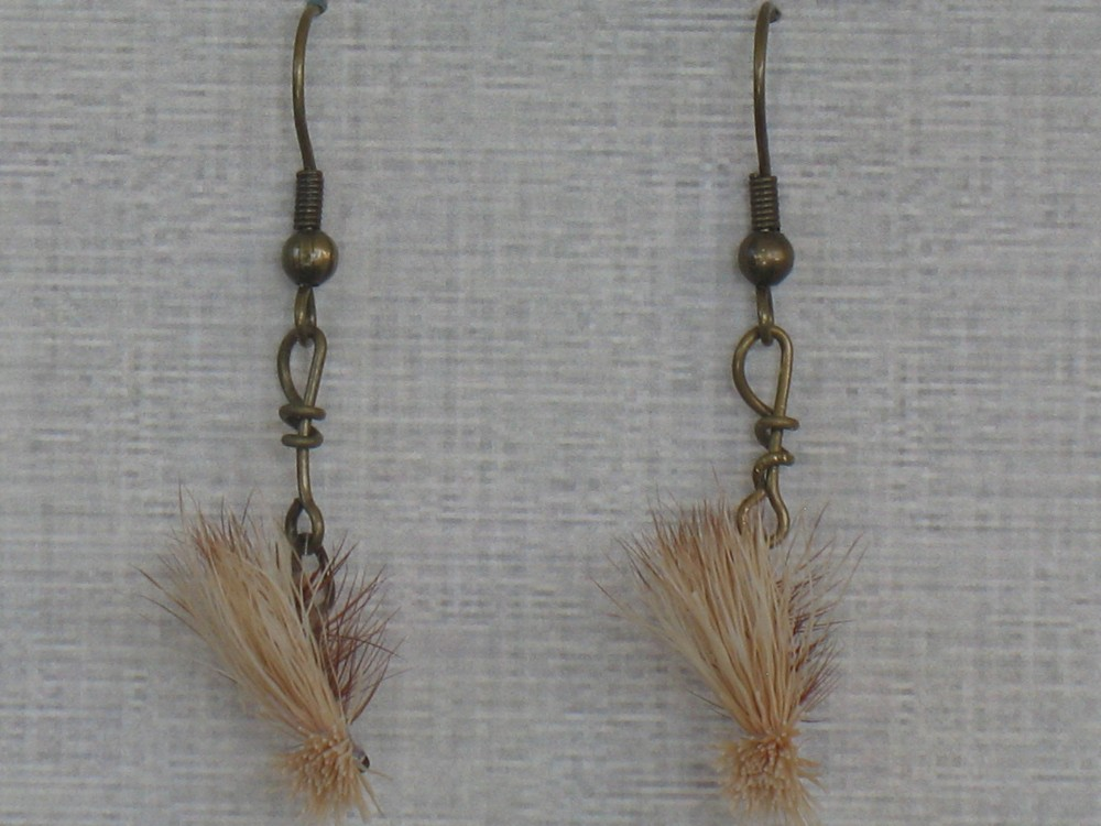 Caddisfly earrings