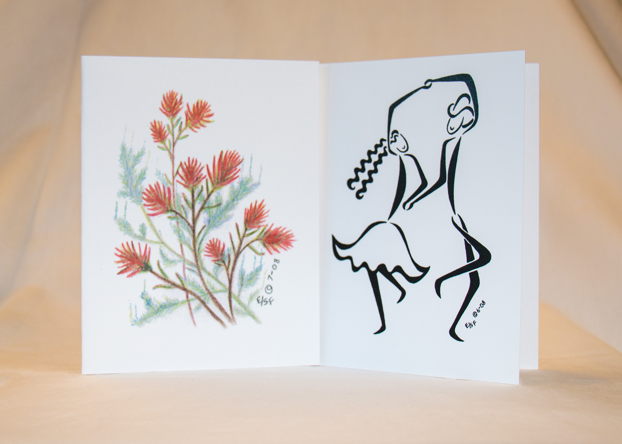 Made in wyoming program elaine thought greeting cards were getting expensive so she started drawing her own scenes for cards to send to family and friends m4hsunfo